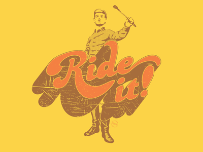 Ride It! kentucky derby derby horse racing jockey illustration retro