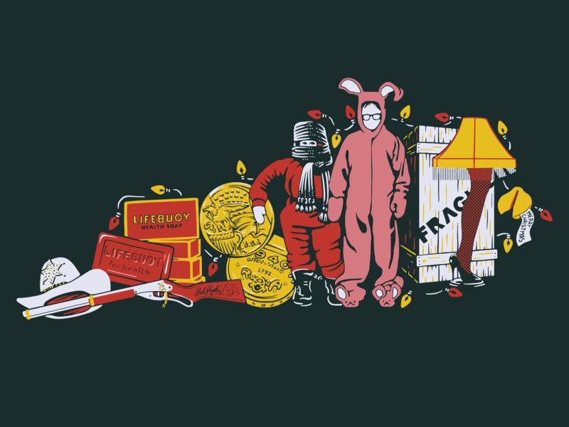 A Kentucky Christmas Story pop culture holiday christmas retro illustration kentucky