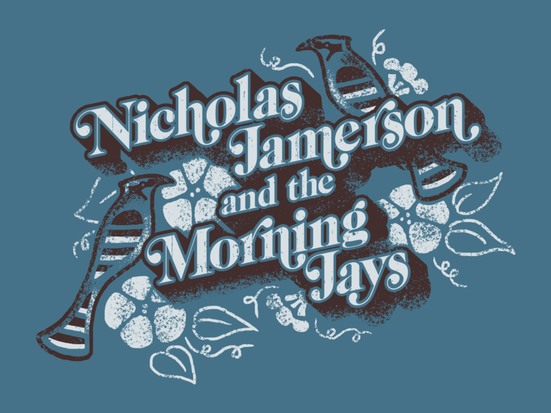 NJ & the Morning Jays Tee mid century bird musician band tee vintage design retro illustration