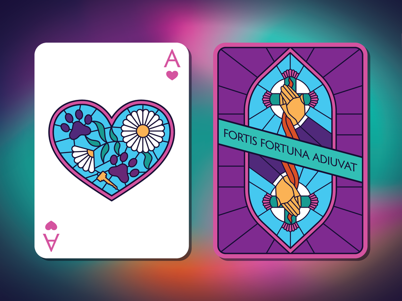 John Wick Playing Cards stained glass weekly warm-up playing cards playing card john wick design vector illustration