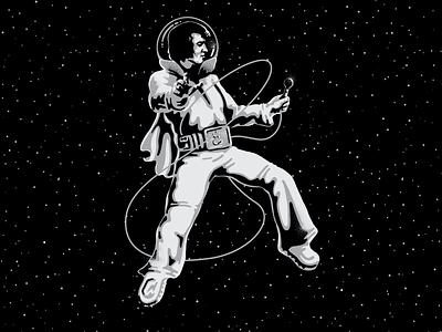 Astronaut Elvis elvis presley portrait space astronaut elvis vector illustration