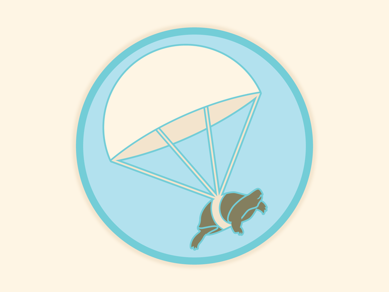 Death From Above weekly warm-up icon design movie turtle icon design illustration vector