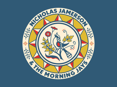 Nicholas Jamerson Folk Art Tee bird folk art folkart tee musician illustration