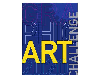 Graphic Art 2020 Challenge typography creative illustration design