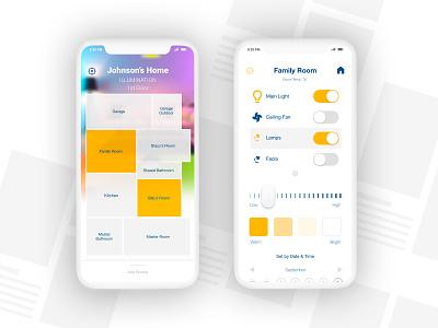 Home Illumination Control App Design interface creative ux ui app adobe xd design