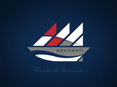 Naviganti Negative icon flat branding vector design logo illustration