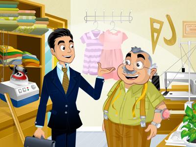 Sales representative - Tailor elearning e-learning animation flash cartoon