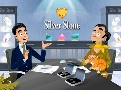 Sales representative - Jewelry e-learning flash animation cartoon