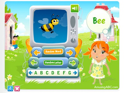 AmusingABC - Alphabet ipad game cartoon flash illustration animation app