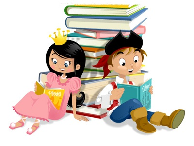 Book fair illustration cartoon children