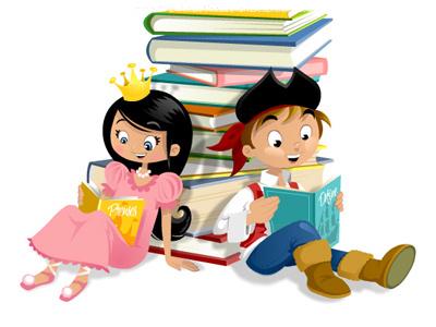 Book fair illustration cartoon children