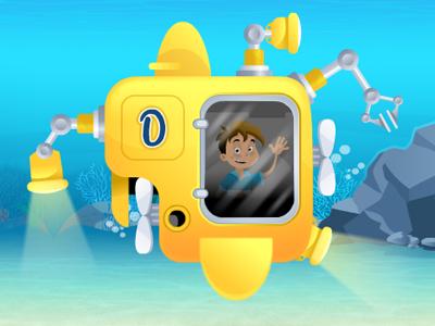 Yellow Submarine animation illustration flash cartoon