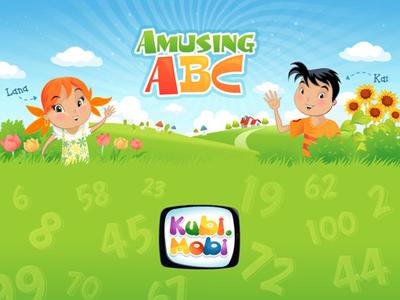 AmusingABC numbers game ipad app game cartoon animation children