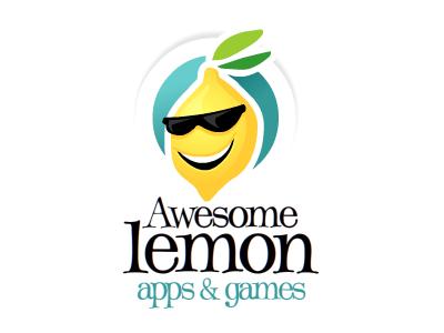 AwesomeLemon logo cartoon illustration lemon awesome