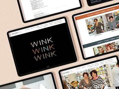 Wink Salon Website Design gif ux  ui uxdesign web squarespace identity design branding design logo nc hair salon salon business webdesign website