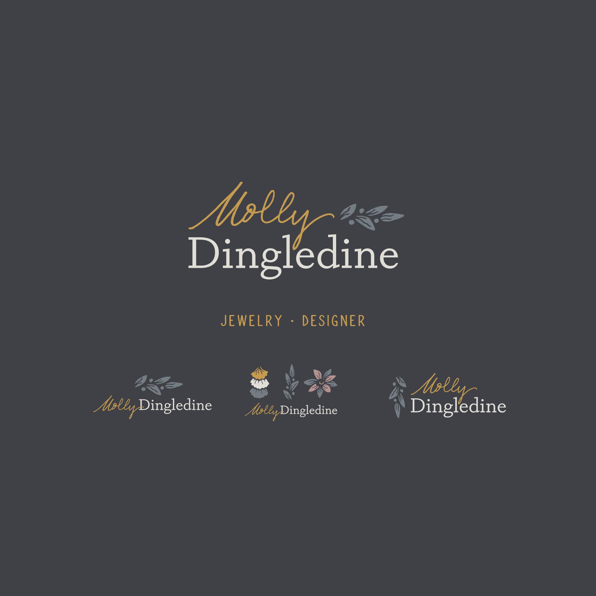 Branding for a Jewelry Designer logomark typography type designer jewelry organic leaf branding brand logos logo signature