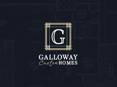 Builder Group Logo & Pattern typography greenville luxury builder homes g blueprint blueprints patterns branding logo pattern