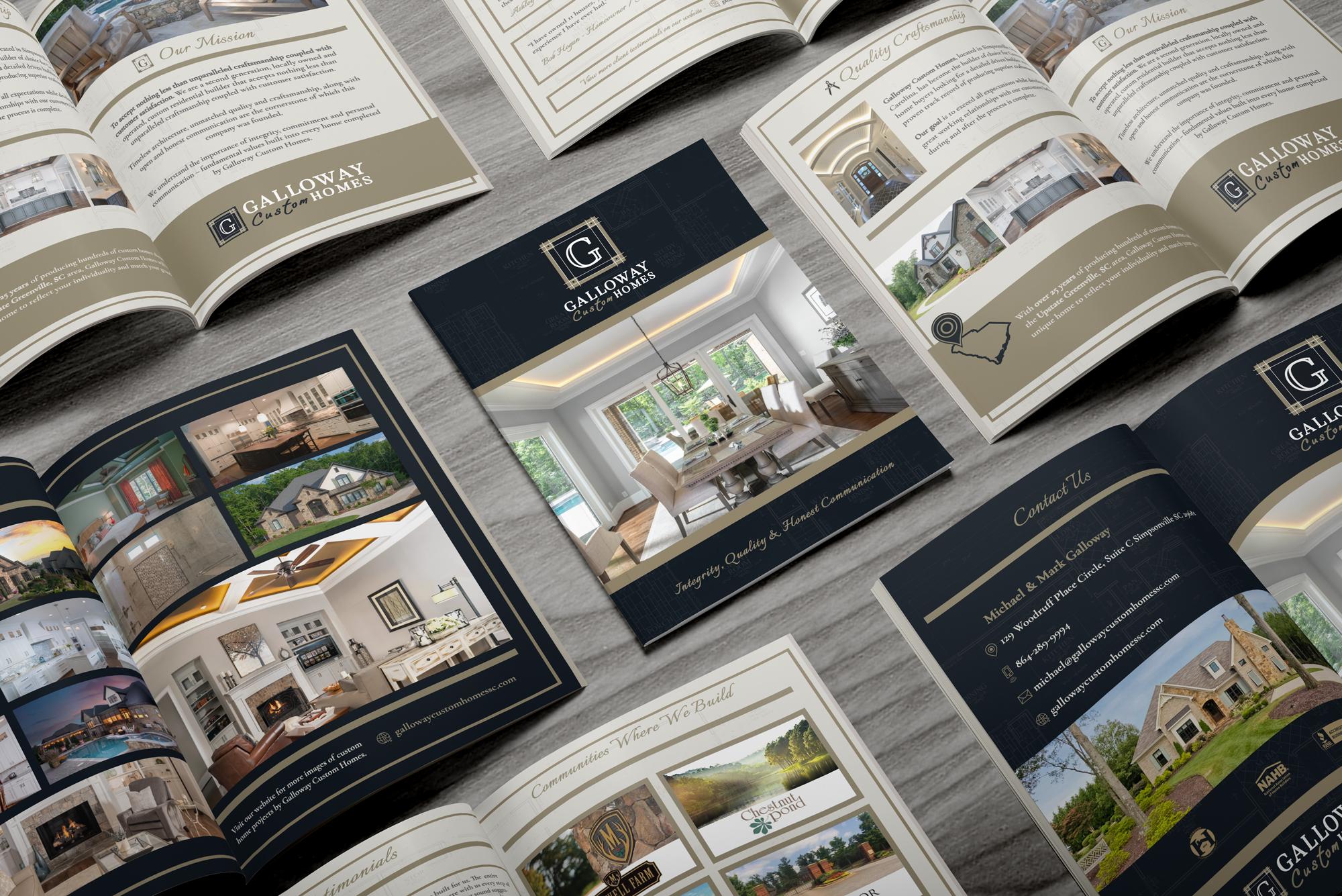 Custom Builder Brochure print construction builders brochures custom homes builder agency design brochure