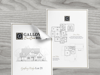 New Home Promotional Flyer designer construction collateral builders house blueprints lot asheville nc builder home
