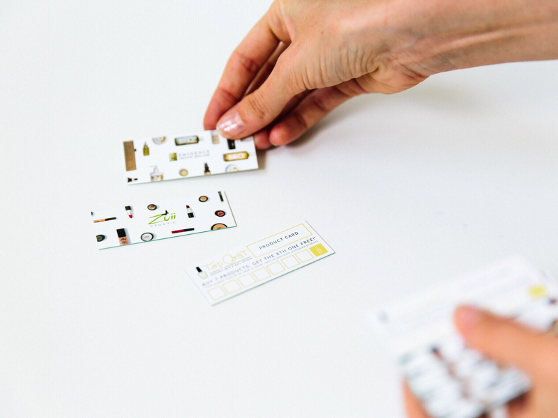 Product Punch Card Design branding brand collateral card design print productcard punch card
