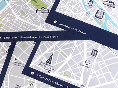 custom map designs of paris france