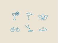 Beach-themed Custom Icon Set
