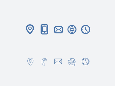 Icon Set Options for Clients