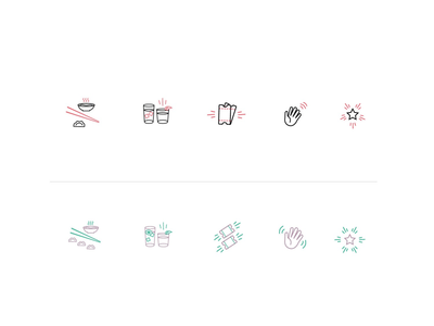 Custom Icon Set for local Restaurant Group