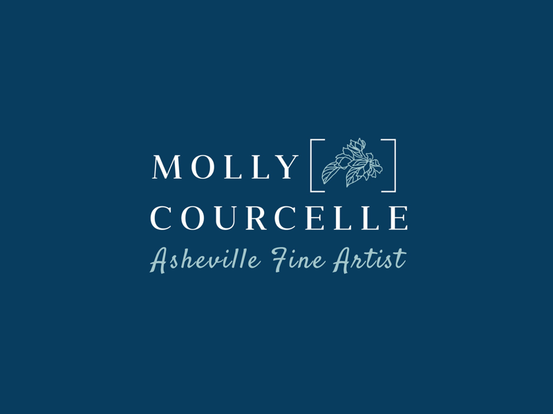 Fine Artist Logo Design identity iconography art floral icon logos asheville artist designer logo