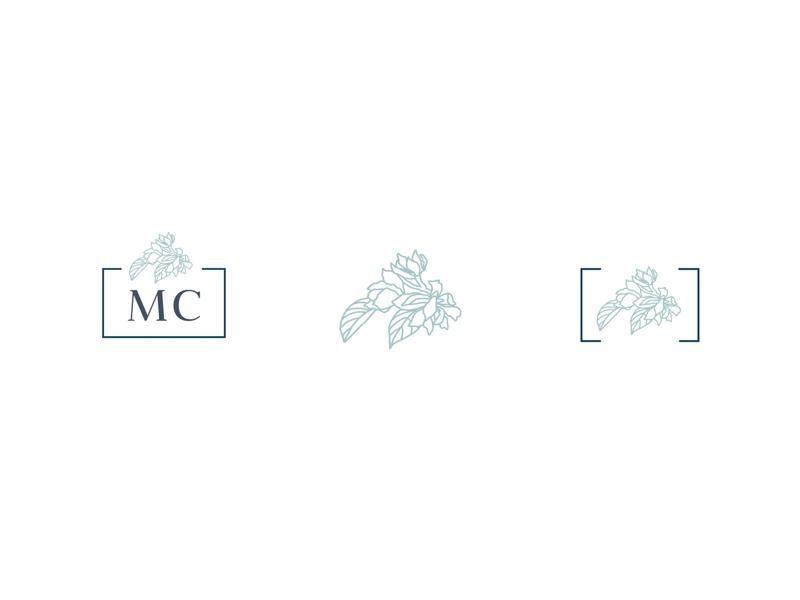 Artist Sub-Mark Set asheville painter artist identity branding icons floral brand logo