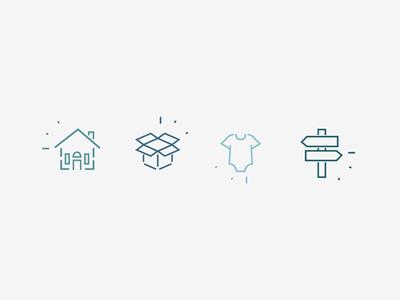 Home Organization Company - Icon Set