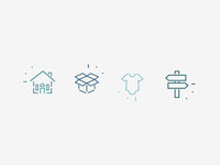 Home Organization Company - Icon Set
