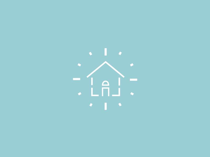 New Logo Design illustration logos logo iconography icon simple modern clock house cleaning improvement home organization