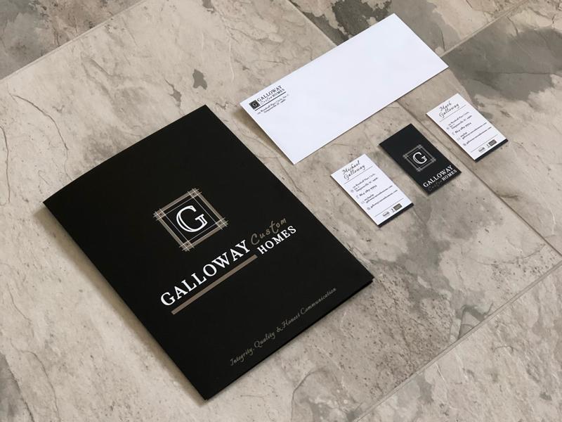Brand Collateral Design - Greenville, SC builder group asheville sc greenville homes designer builder custom lettering identity brand branding
