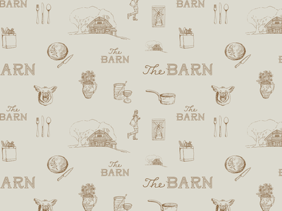 Custom Pattern Design icon north carolina highlands asheville designer cooking iconography bread food barn pattern icons