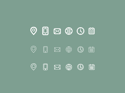 Bold, thin line or hand-drawn icon sets icon designs thin bold email phone calendar contact studio designer iconography icons