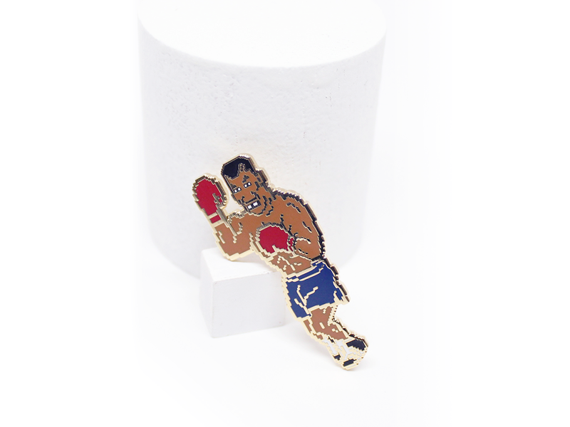K.O. Kid Classic 90s tyson nintendo lapel pin