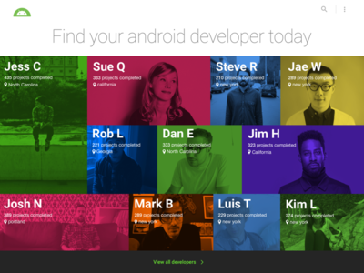 Android Developers help-people skills search developers freelance talent-search