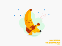 A banana that plays the guitar.