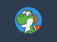 Yoshi's physiognomy in the 1990s. Nintendo.