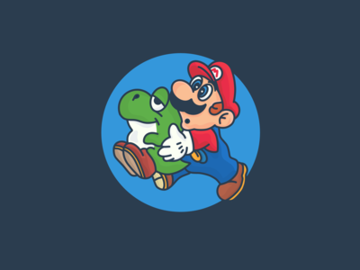 Physiognomy of Mario and Baby Yoshi in the 1990s. Nintendo.