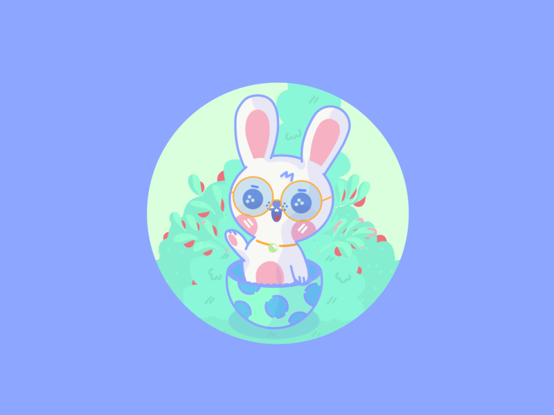 Happy Easter / Leopoldo new design cartoon art character dribbble illustration vector adobe bunny easter bunny egg easter egg happy easter happy easter
