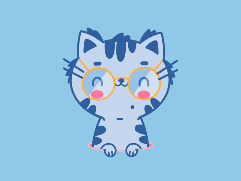 Happy Cat / Leopoldo animation brazil new art design cartoon character branding dribbble illustration vector adobe animal  pet animal dog cao perro cat happy