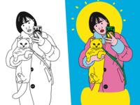 Illustrator 自画像