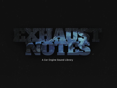 Exhaust Notes Logo gif development hover effect lettering logo design css