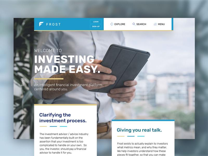 Frost Web Design Homepage modern css homepage ui web