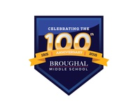 Broughal Middle School 100th Logo