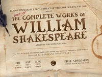 The Complete Works of William Shakespeare Poster
