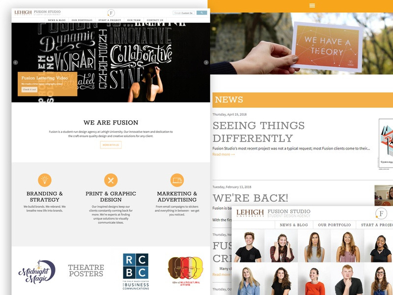 Fusion Studios Website branding creative photography graphic design web studios fusion