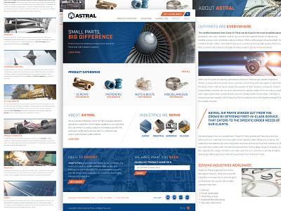 Astral Air Parts Website wordpress development web